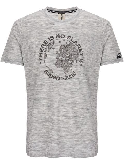 super.natural M's Graphic T-Shirt Ash Melange/Killer Khaki Planet B